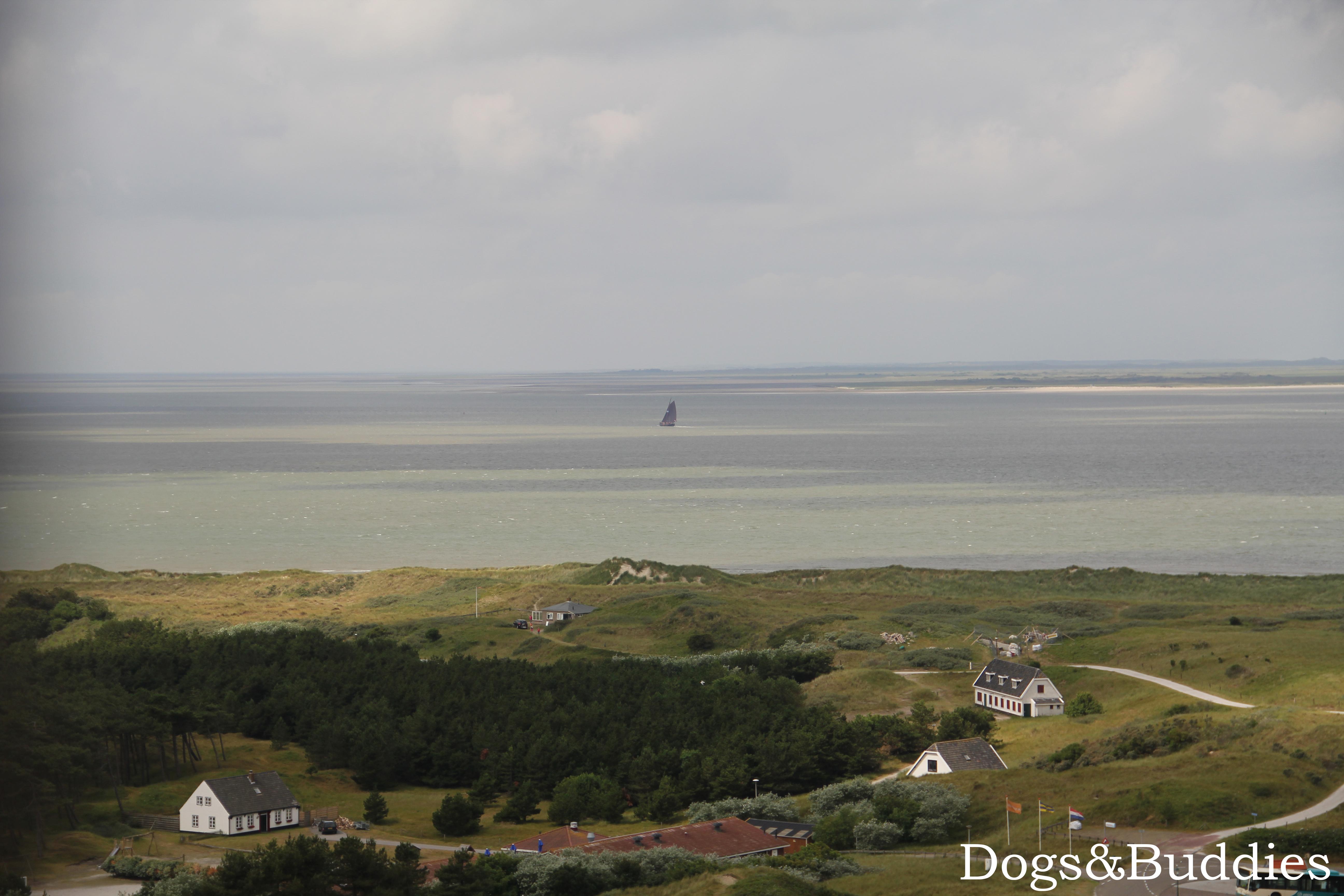 Aussicht vom Leuchtturm Bornrif in Hollum auf Ameland