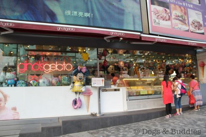 Gino's Gelato auf dem Victoria Peak in Hongkong